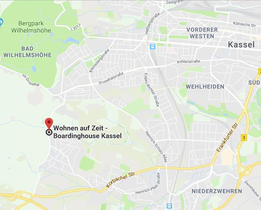 Lageplan Appartement Höhle Kassel